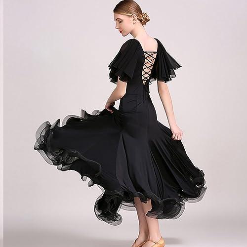 Liu Sensen Moderne Lady Dance Robe Grand Pendule en Mousseline De Soie Tango Et Valse Danse Robe De Danse La Jupe De Lotus FEI Manches Robe De Danse Costume
