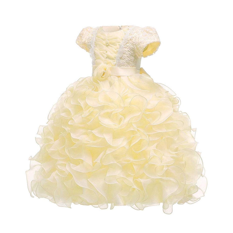 (BaQi Trade)ガールズドレス 女の子ワンピース 子供 キッズカステラスカート フラワーガールズ 子供フォーマル パーテイードレス