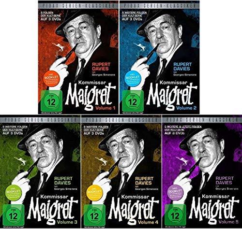 Kommissar Maigret Vol. 1-5 im Set - Deutsche Originalware [15 DVDs]
