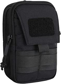 Excellent Elite Spanker Tactical Molle EDC Pouch Nylon Waist Pack Camping Hiking Pocket Organizer(Black)