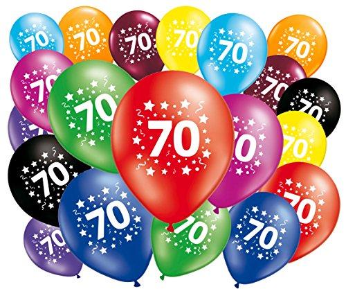 FABSUD Ballons Anniversaire 70 Ans - Lot de 20 Ballons 70