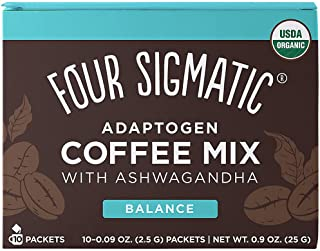 FOUR SIGMATIC Adaptogen Coffee Mix With Tulsi & Ashwagandha (10 packets), 2.5 g