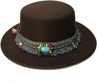 HaiNing Zheng Wide Brim Fedora Pure Felt Bowler Hat Stitching Bucket Hat For Women British Style Feminino Jazz Church Vintage Men