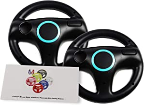 GH 2 Pack Mario Kart 8 Wheel for Nintendo Wii , Steering Wheel for Remote Plus Controlle - Bomb Black (6 Colors Available)