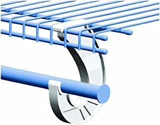 ClosetMaid 5629 Support for SuperSlide Hanging Bar, White 3-Pack