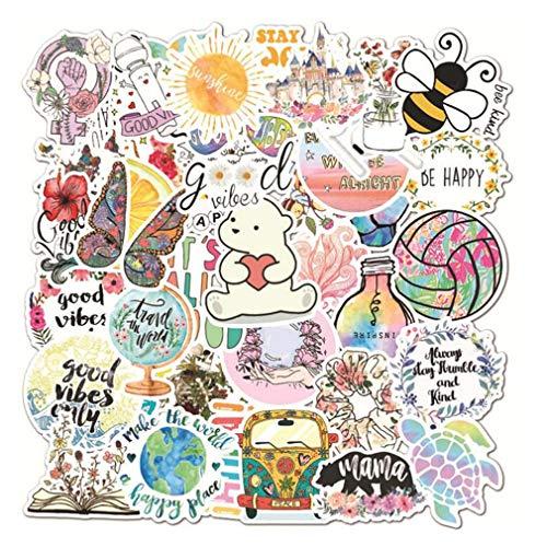 Paquete de 50 pegatinas VSCO Cute Ins Sticker para computadora portátil, botella de agua, bicicleta, casco, equipaje, monopatín, Kawaii, calcomanías impermeables, regalo para niños y niñas