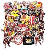 GSNY Nuevas Pegatinas de Graffiti de Iron Man Avengers Anime Trolley Refrigerador Personalidad del Coche Pegatinas Impermeables 55 Hojas