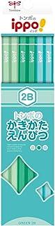 トンボ鉛筆 鉛筆 ippo! かきかたえんぴつ 2B プレーン Green KB-KPN04-2B