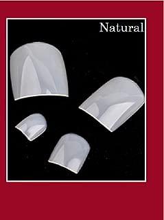 VIKSON INTERNATIONAL 1 Set 20pcs Natural Artificial False Toe Nails Tips for Nail Art Decorations Foot Manicure Beauty Tools Fake Nails for toe with 2 gm professional nail glue