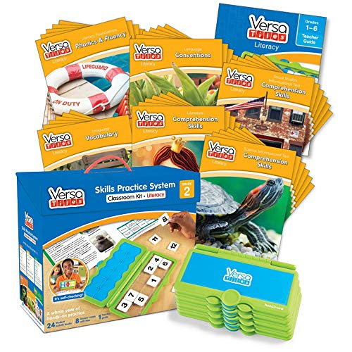 hand2mind VersaTiles Literacy Classroom Set, an Independent Self-Checking & Skill Practicing System (Grade 2), Aligned to State and National Standards