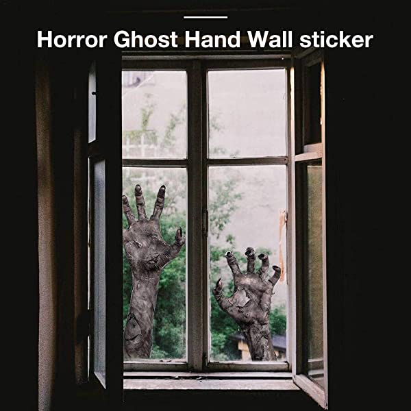 Ditional Halloween Wall Sticker With Innovative Ghost Hand Personality 11 8x17 7inch Removable Halloween Decorations For Kids Rooms Nursery Halloween Party