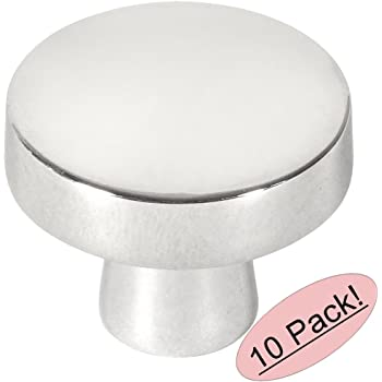 10 Pack - Cosmas 5234CH Polished Chrome Contemporary Round Cabinet Knob Diameter 1-1/4""