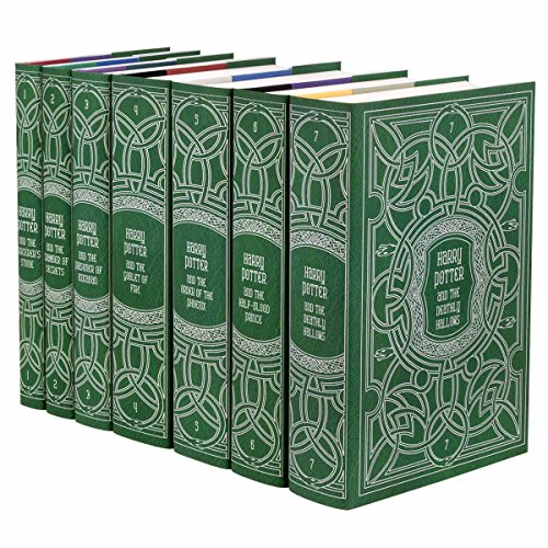 Harry Potter Slytherin House Boxed Set | Seven-Volume Hardcover Book Set with Custom Designed Juniper Books Dust Jackets | Author J.K. Rowling