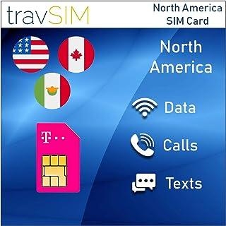 travSIM - Tarjeta SIM Prepaga T-Mobile Para US, Canadá Y México - 50GB De EE. UU., 5GB De Datos Combinados CA Y MX 4G LTE, Llamadas De Voz Nacionales Ilimitadas Y Mensajes De Texto Válido Por 30 Días