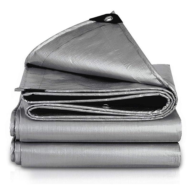 参加する反対にアマゾンジャングルFQJYNLY タープリンター防水シート屋外の防塵防雨布バルコニー、ポリエチレン、サイズカスタマイズ (Color : Silver, Size : 2.8x2.8m)
