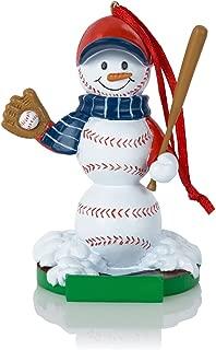 Baseball Snowman Resin Christmas Ornament   Baseball Ornaments by ChalkTalk Sports