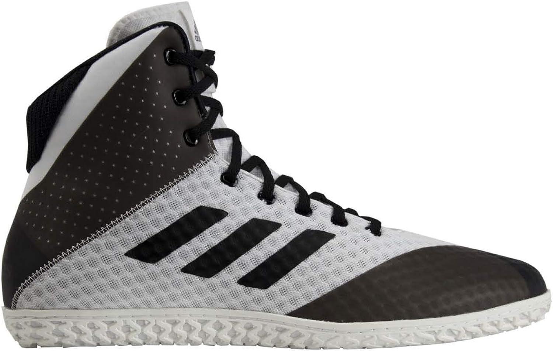 Adidas Mat Wizard 4 Men's Wrestling shoes, White Black, Size 12