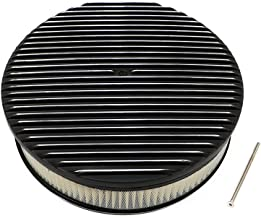 Assault Racing Products A6801-3PBK 14 x 3 Round Full Finned Top Black Aluminum Air Cleaner Assembly Retro