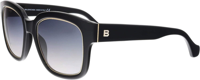 Balenciaga BA50 BA 50 01B Black Fashion Sunglasses 52mm
