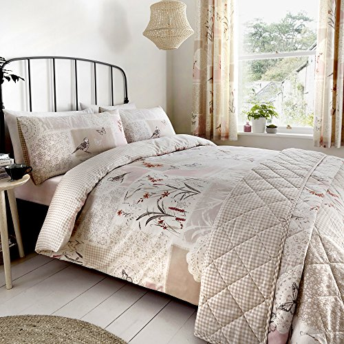 DREAMS AND DRAPES Dionne Parure pour Couette, 52% Polyester, 48% Coton, Naturel, Double