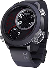 Welder by U-Boat K32 Oversize Triple Time Zone Black Ion-Plated Steel Mens Watch K32-9201 Retail Price $1250
