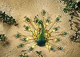 ABC Home Garden Wanddeko LED Solarbetrieben EIN-& Ausschalter Lichtsensor, grün, blau, Gold, ca. 3 cm T x 42,5 cm B x 32,5 cm H