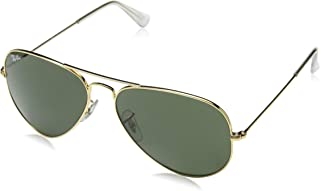 Ray-Ban AVIATOR LARGE METAL - GOLD Frame GREY GREEN Lenses 58mm Non-Polarized