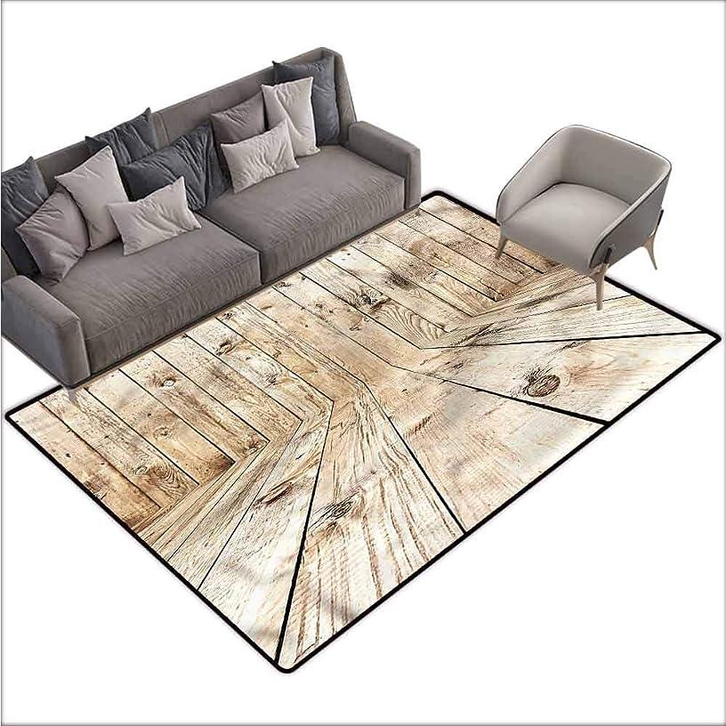 Floor Mat Kitchen Long Carpet Beige,Empty Wooden Country House 60