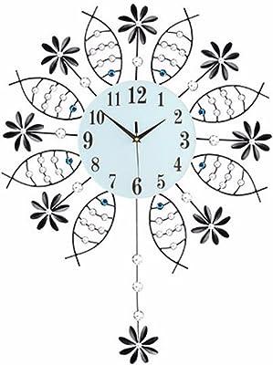 Imoerjia Creative Rocking Clocks Living Room Home Wall Clock European Style Iron Wall Table Mute Quartz