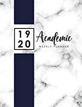 2019-2020 Academic Weekly Planner Appointment Book: Marble Cover | 2019-2020 Academic Planner with Hours Daily Appointment Book | 8.00 am-9.45 pm ... Academic School Year, Daily Appointment Book)