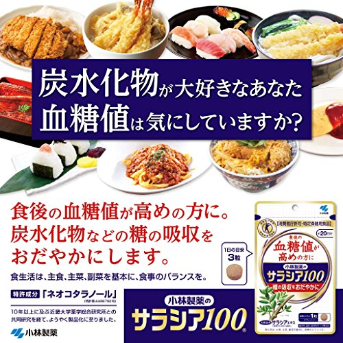 小林製薬のサラシア100食後の血糖値が高めの方に(特定保健用食品)約20日分60粒
