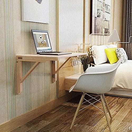 Mesa de comedor plegable para montar en la pared, ahorra espacio, para dormitorio, cuarto de estudio, baño, balcón, fácil de montar, 70 cm x 50 cm.