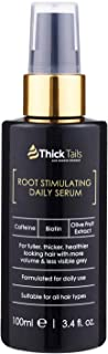 ThickTails Hair Growth Serum - Anti Hair Loss Thickening Regrowth Treatment For Women With Thinning Hair And Breakage Due to Menopause, Stress, Postpartum Recovery. Best DHT Blocker. Biotin Caffeine