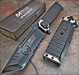 Best Mtech USA Knives - MTECH Ballistic SILVER SAWBACK Tanto Skull Spring Assisted Review