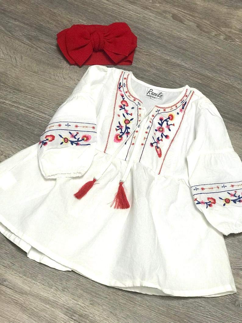Lowest price challenge Girls Embroidered BOHO Dress Hippie Seattle Mall Girl Tunic
