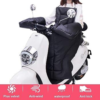 1paire:L sweetlife Gants Moto Hiver Chaud Manchons Scooter Guidon de Protection Contre Coupe-Vent Etanche /Épais Prot/ège Mains en Cuir