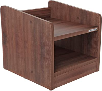 Godrej Interio Siesta Bedside Table (Dark Walnut, Matte Finish)