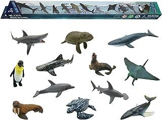 Ocean Animal Model Toy Set 12pcs Simulation Animal Toys Mini Sea Baby Educational Toy