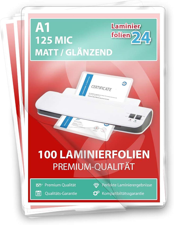 XLam Laminierfolien A1-2 x 125 Mic - matt matt matt glänzend - 100 Stück - PREMIUMQUALITÄT FÜR PERFEKTE LAMINIERERGEBNISSE B07N7L321N | Gutes Design  35fe35