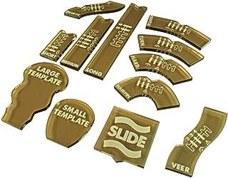 LITKO Half Scale Gaslands Miniatures Game Template Set, Translucent Bronze (12)