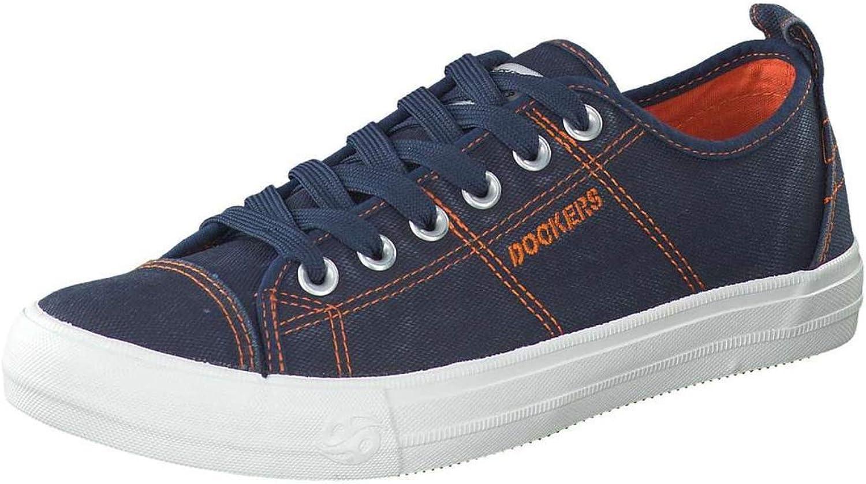 Dockers by Gerli 44VK001-790600 Herren Turnschuhe Washed Canvas Schuhe Navy  | Hohe Qualität