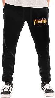 Flame Hip Hop Men's Fashion Long Sweatpants Black