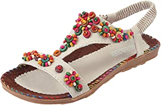 FULLSUNNY-Sandals for Women Wedge Pearls The Top Platform High Heels After Shower Hours Running Around Leg at Home Nightmare Before Christmas