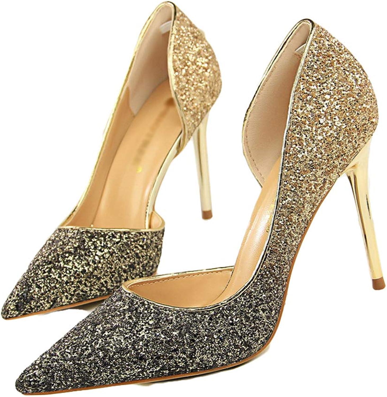 Drew Toby Women Pumps Pointed Toe Fashion Slip-On Elegant Wedding Party Shallow High Heels