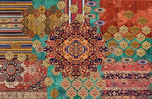 Vilber Bohemian Nomad Alfombra, Vinilo, Multicolor, 100x153x0.2 cm