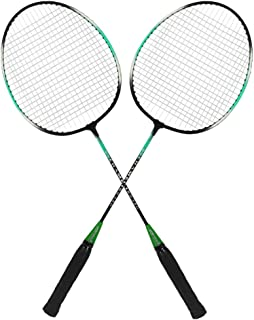 Guru Chemeli BS10 Pack of Two Racket Badminton Set, Size 27 Inch With Cover