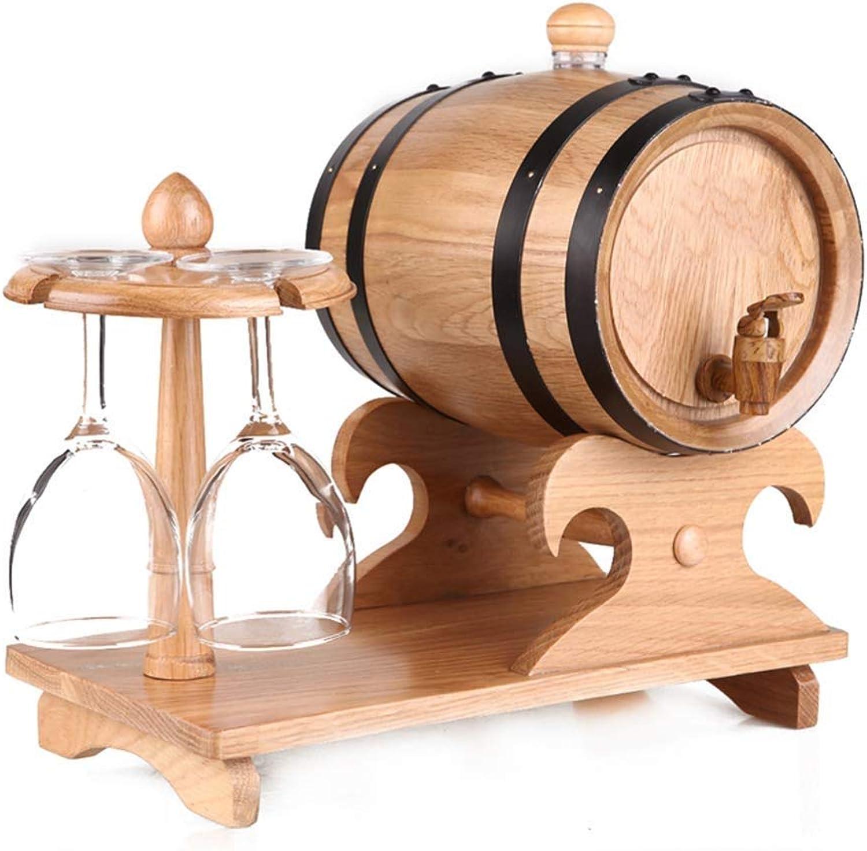 al precio mas bajo Liansheng 5L 5L 5L Barril de Roble portavasos Barril de Roble Barril de Vino casero Barril de Vino decoración Barril dispensador de Cerveza Cubo dispensador (Color   Wood Color)  la mejor oferta de tienda online