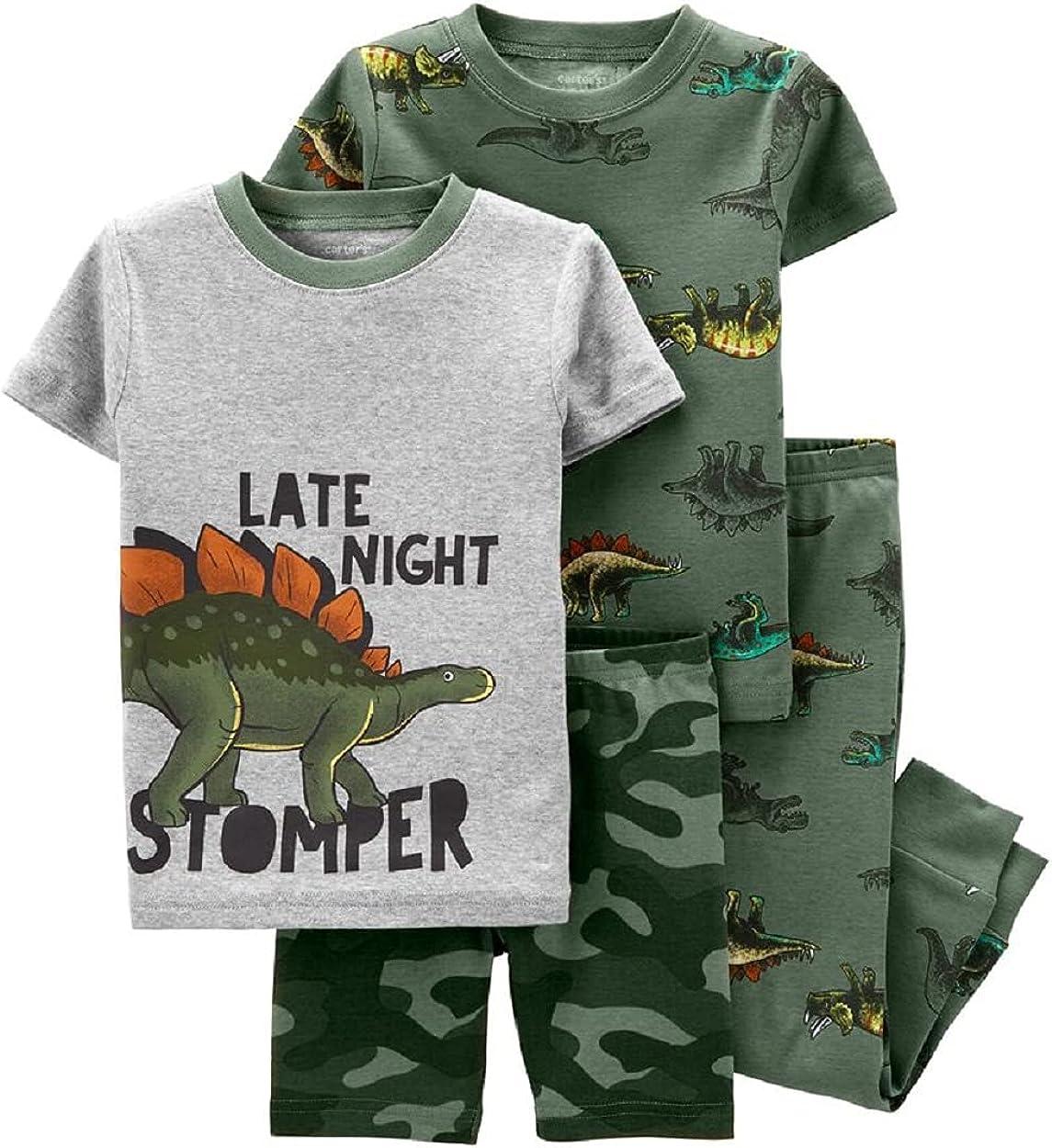 Carter's 4-Piece Dinosaur 100% Snug Fit Cotton PJs (12 Months) Green
