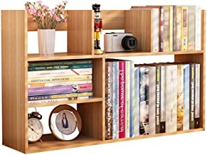 Magazine Racks Home Fashion Bookshelf MDF Simple Mini Desktop Storage Rack Rack 80x18x48CM A+ cxjff (Color : A)