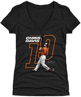 Chris Davis Women's Shirt - Baltimore Baseball Shirt for Women - Chris Davis Offset